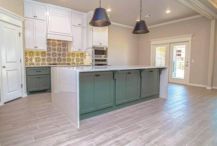 wood look tile flooring design ideas