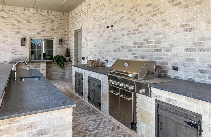 outdoor kitchen countertops popular