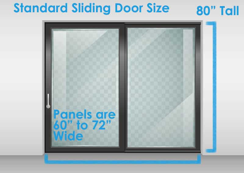 sliding door dimensions standard sizes