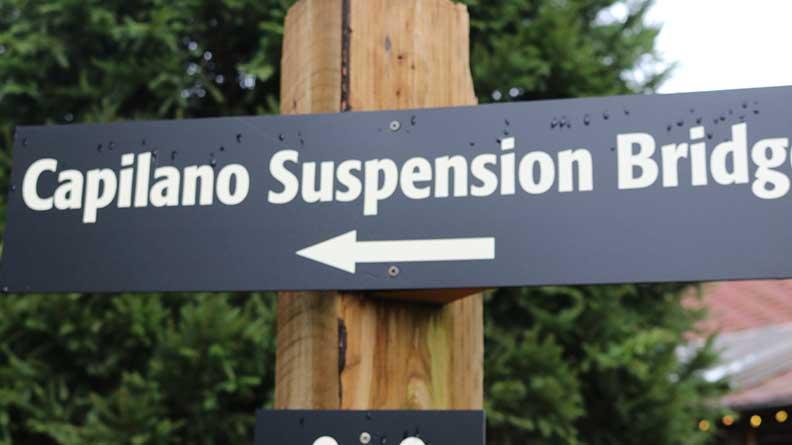 Capilano Suspension Bridge Sign
