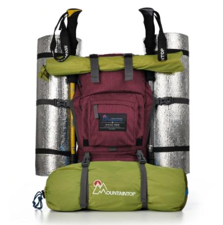 Backpack holding straps