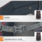 travel pack straps