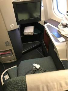 cathay pacific business class pod