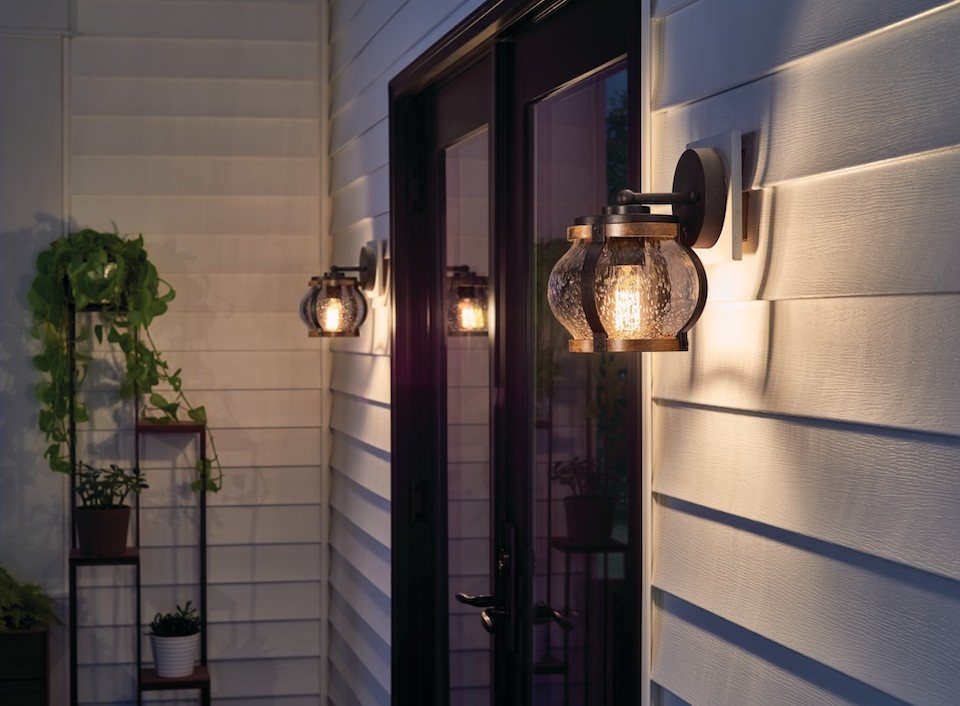 outdoor space with kichler lighting