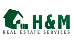 H&M Real Estate has three branches. This is the most widely used logo as it is for the residential branch
