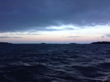 Early morning mail boat ride from Stonington to Isle au Haut