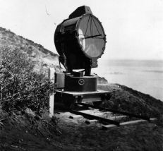 Above ground search light from Fort Rosencrans, 1920