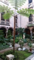 The courtyard was lush and green and a welcome respite from January in Boston
