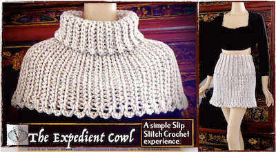 Beginner slip stitch crochet with a big hook!