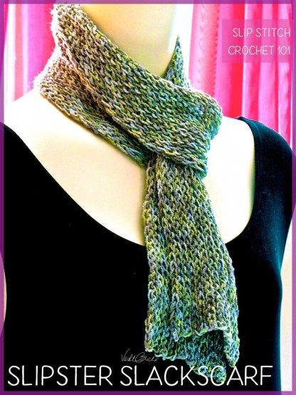 Simple Slip Stitch Crochet Pattern: Slipster Slackscarf