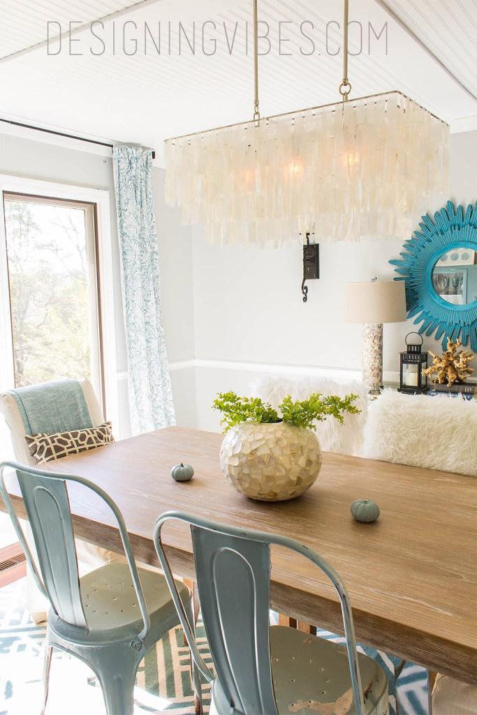 rustic modern dining room