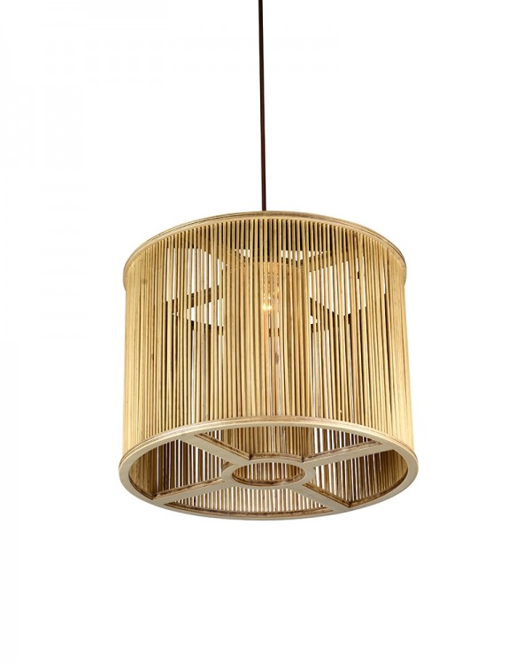 Double Cover Wood Maya Shade Pendant
