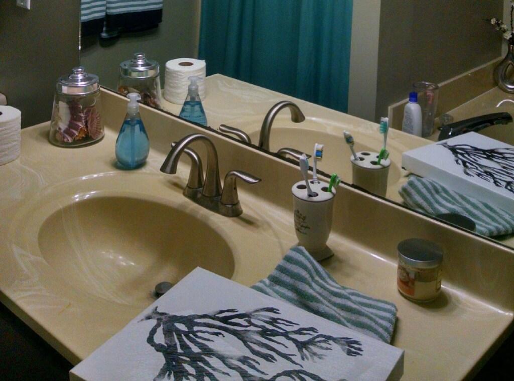 bathroom countertop makeover