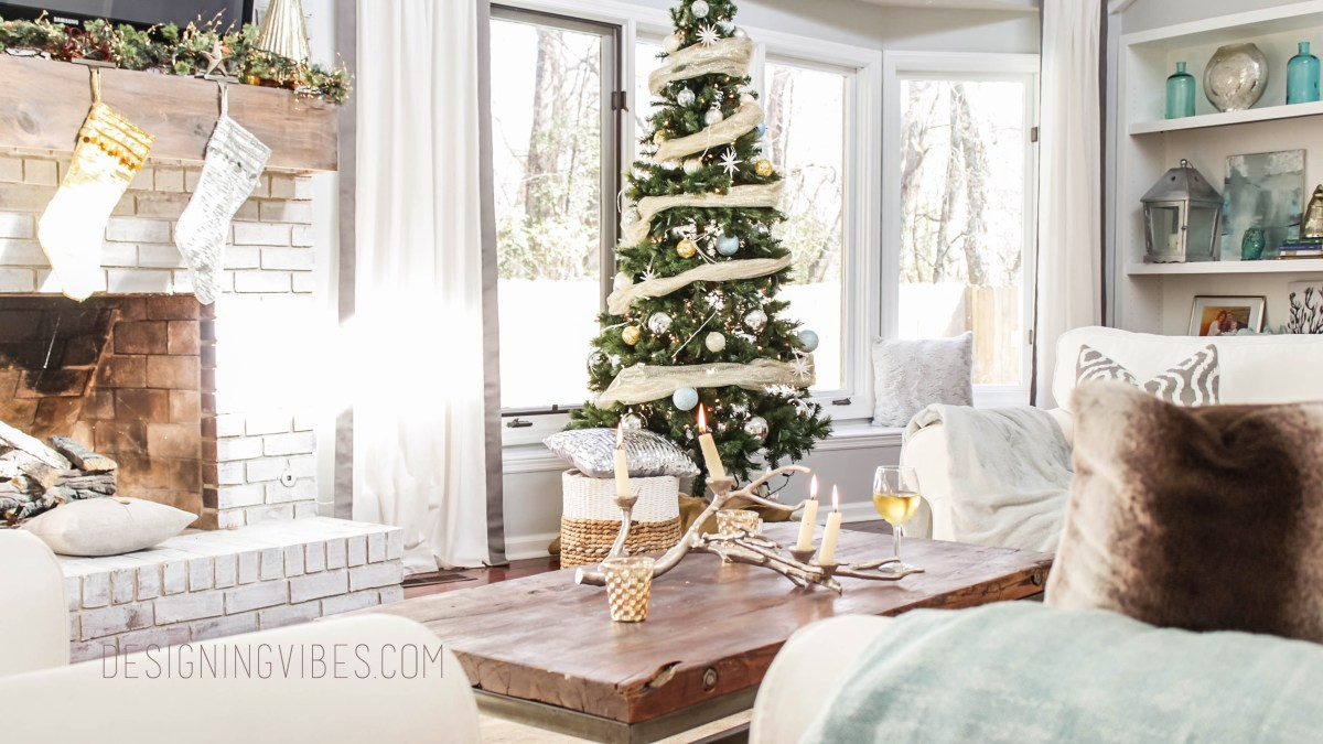 Rustic Glam Holiday Decor- Home Tour Part 1