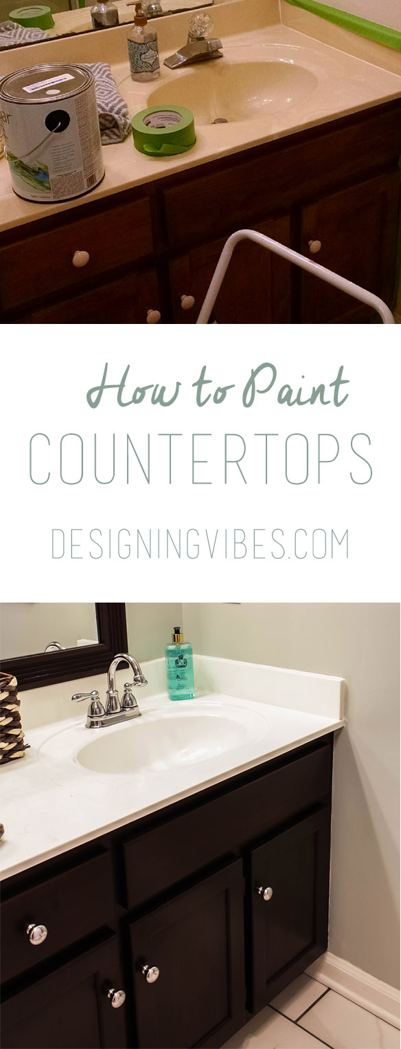 How to Paint Cultured Marble Countertops - DIY Tutorial
