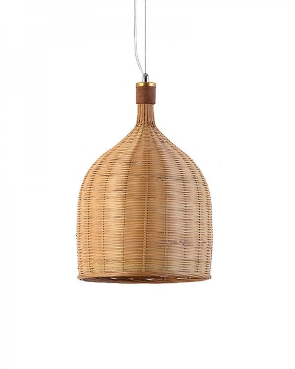rustic basket weave light