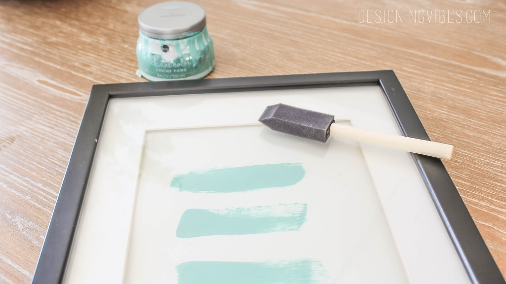 easy turquoise abstract art diy