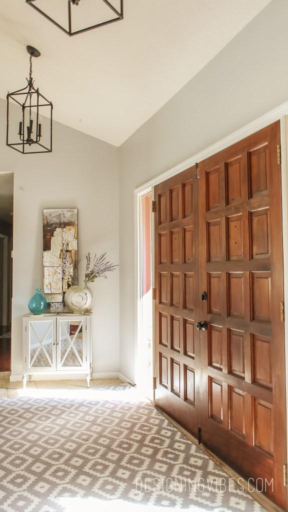 modern spring home decor foyer