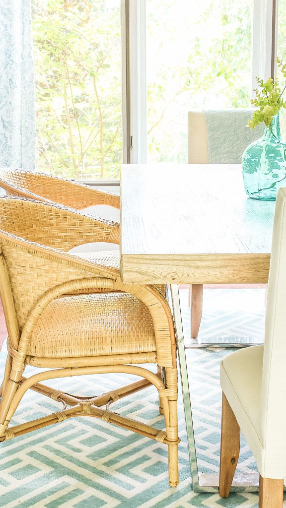rattan dining chairs modern and coastal