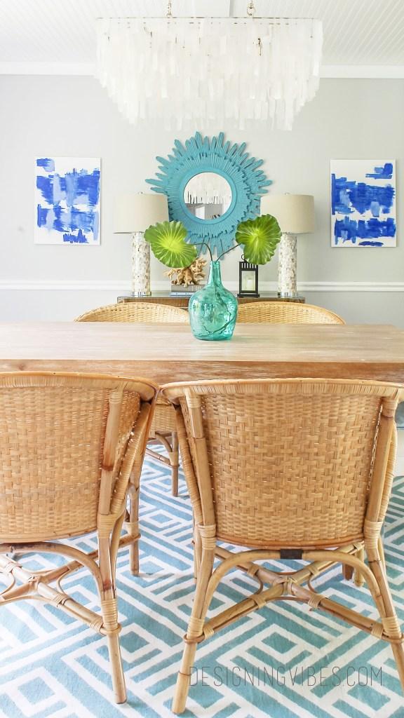 modern coastal dining room