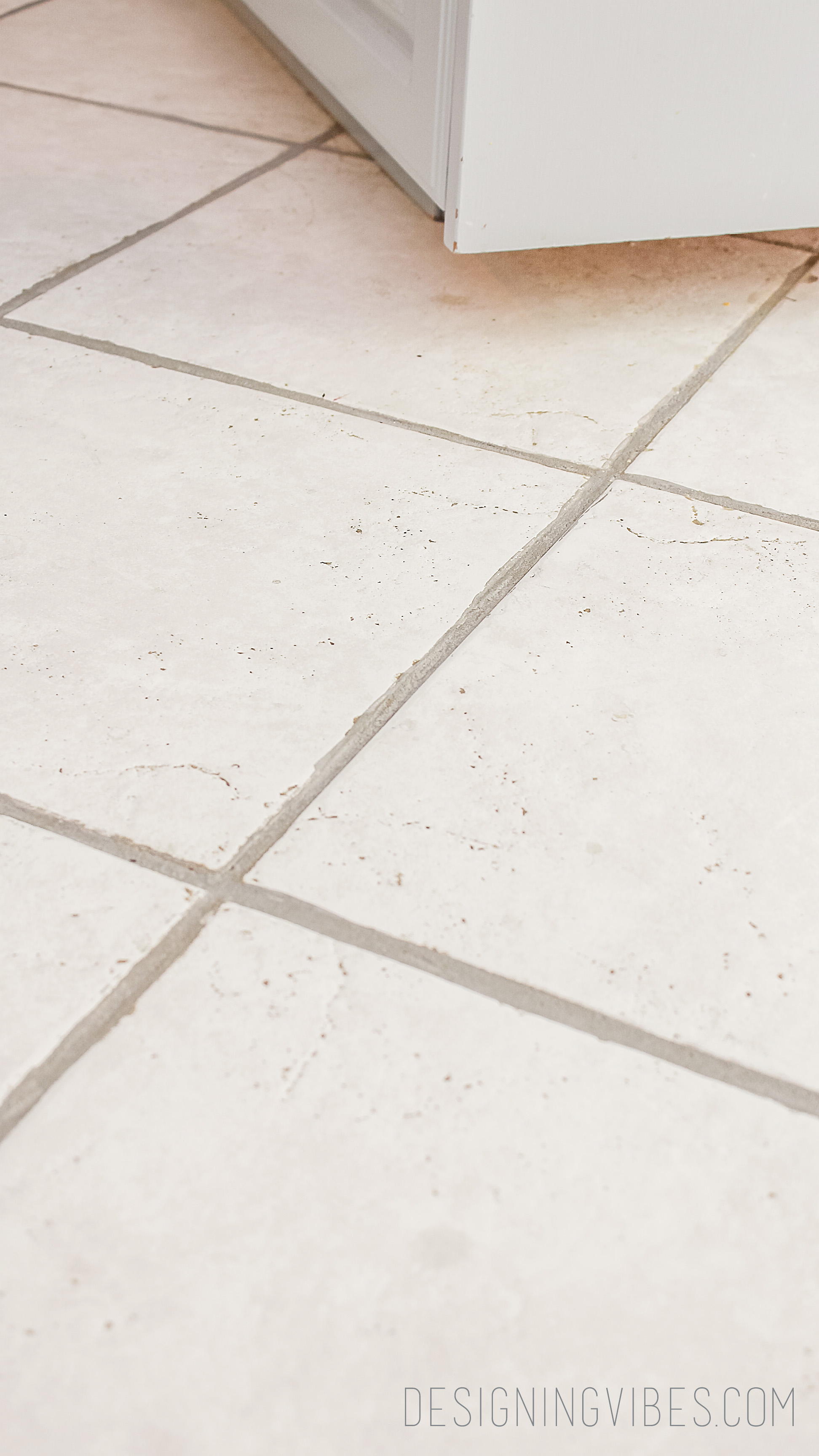 to paint over dingy grout diy gray grout