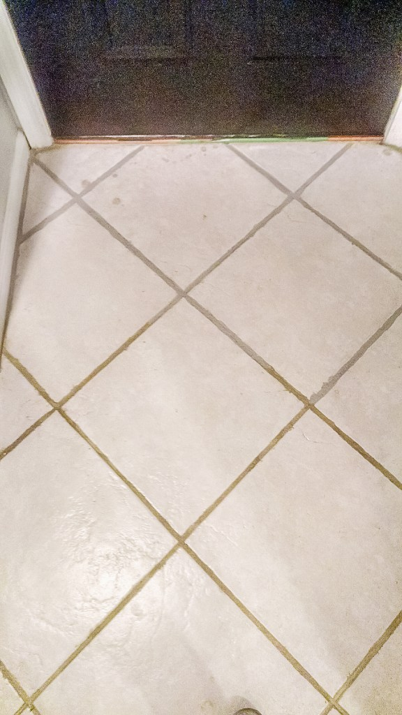 how to paint over grout
