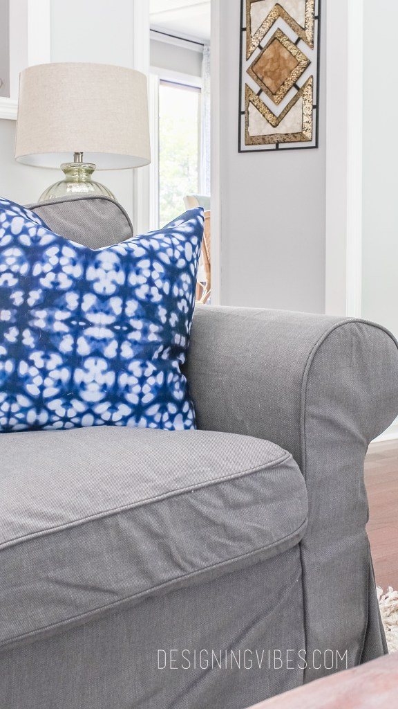 shibori pillows grey couch