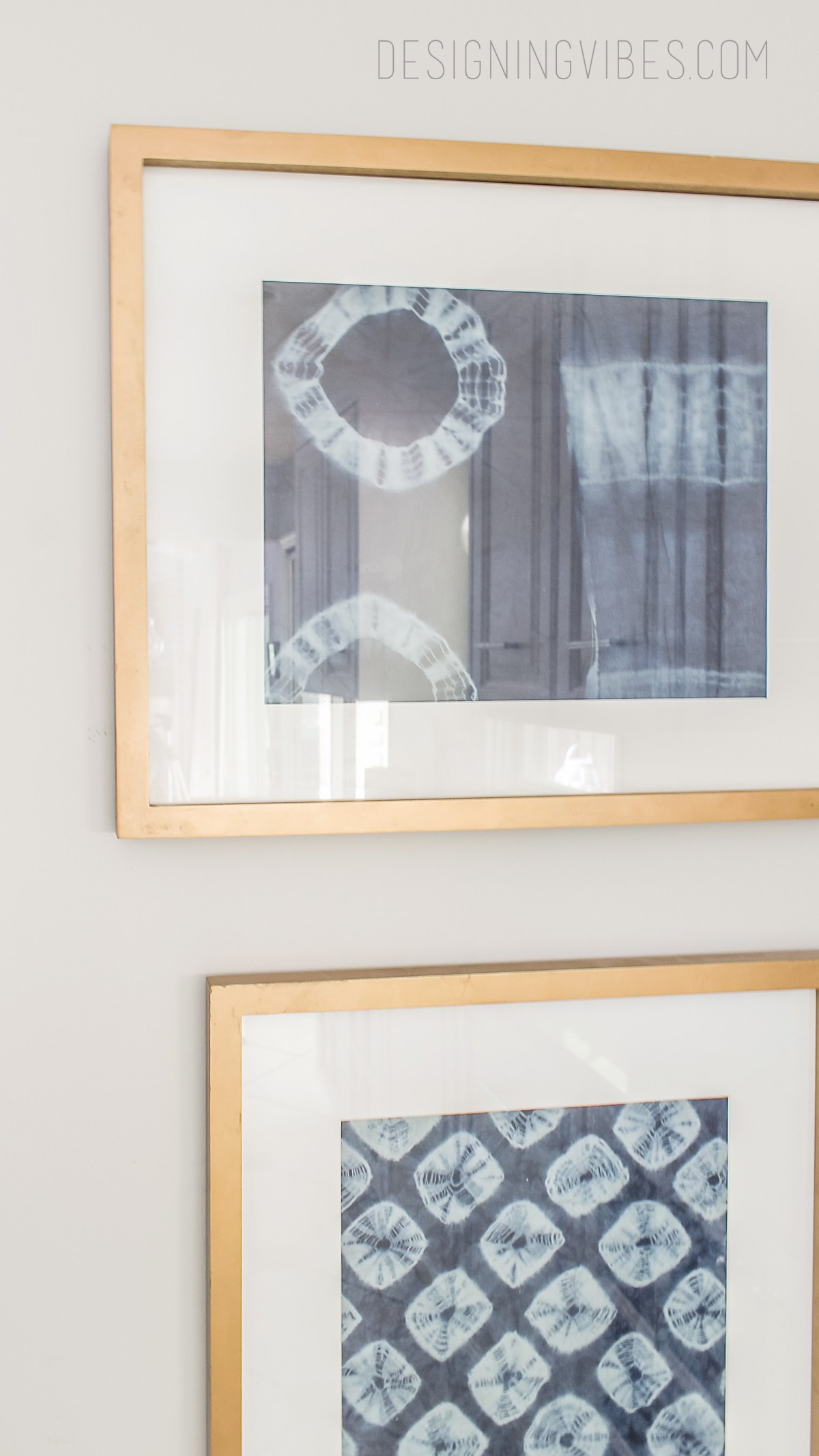 diy shibori wall art