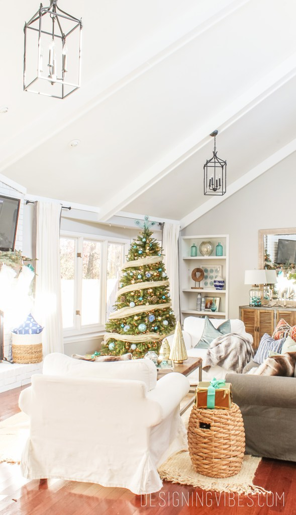 coastal christmas decor modern