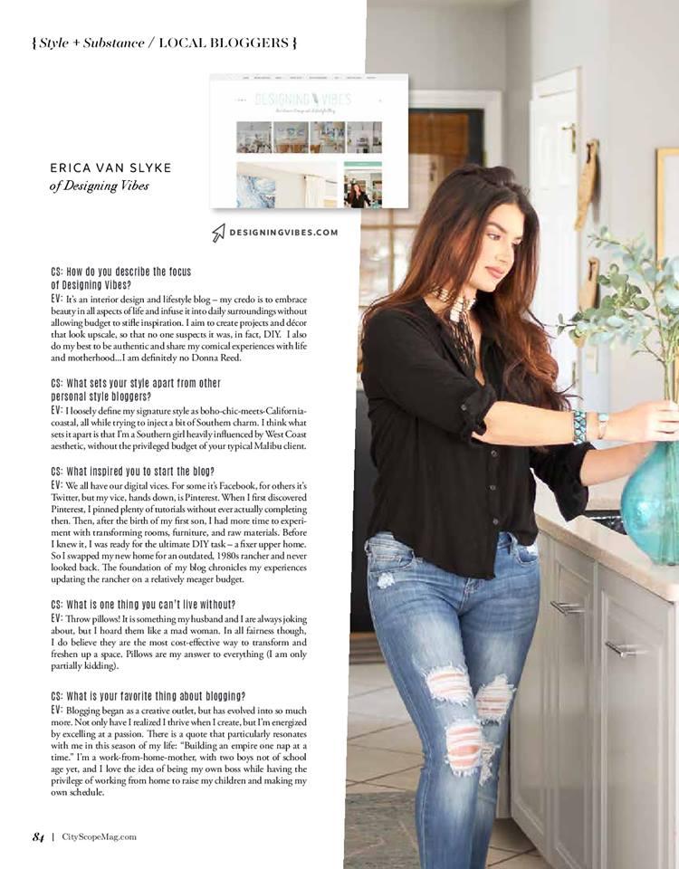 designing vibes in cityscope magazine