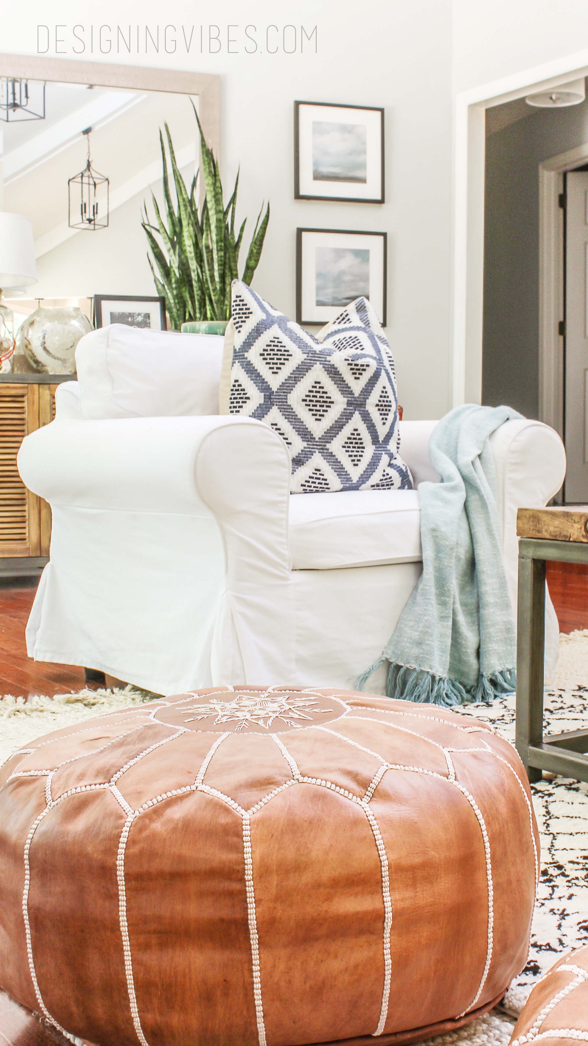 How To Buy Leather Moroccan Poufs On The Cheap Boho