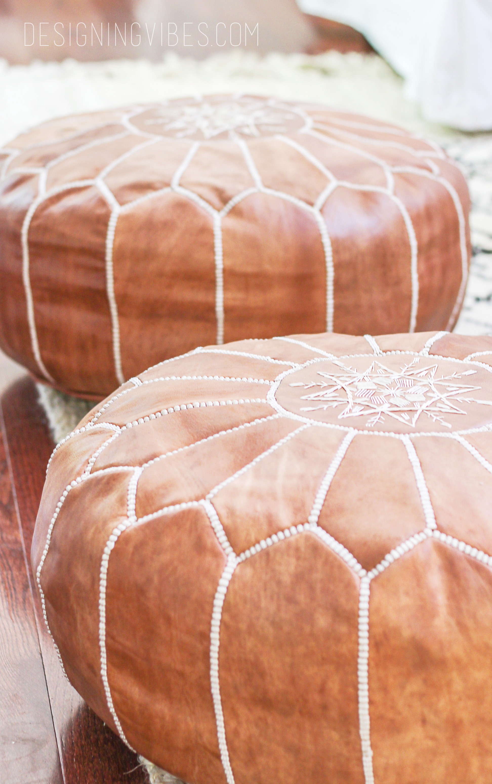 Awesome How To Buy Leather Moroccan Poufs On The Cheap Boho Leather Creativecarmelina Interior Chair Design Creativecarmelinacom