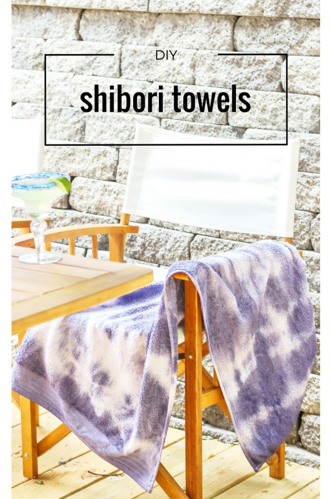 diy shibori beach towel