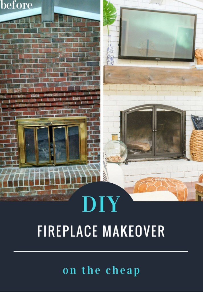 diy fireplace makeover on the cheap