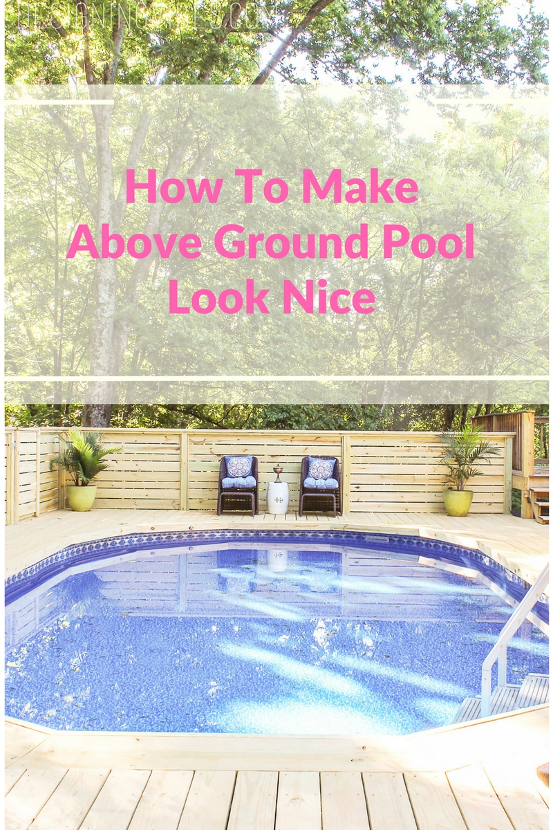 How to make an above ground pool look inground pool deck - How to build an above ground swimming pool ...