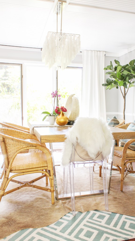 boho glam dining room decor