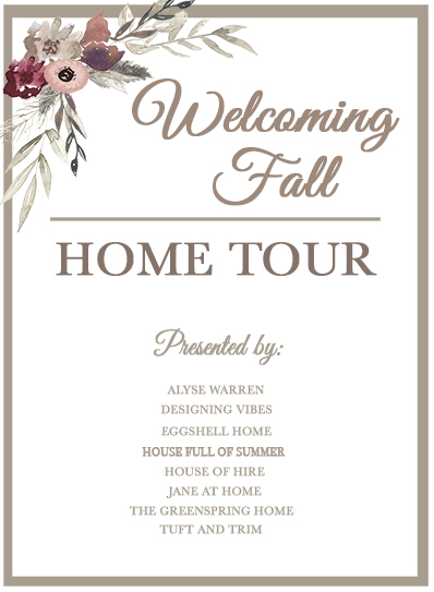 fall home tour decor