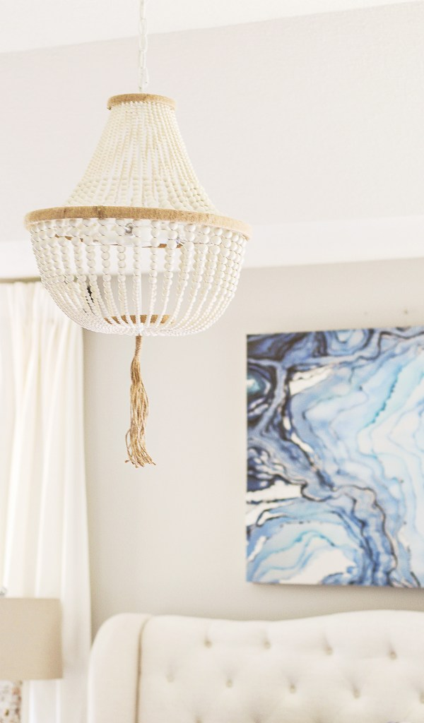 wood beaded chandeliers for under $200
