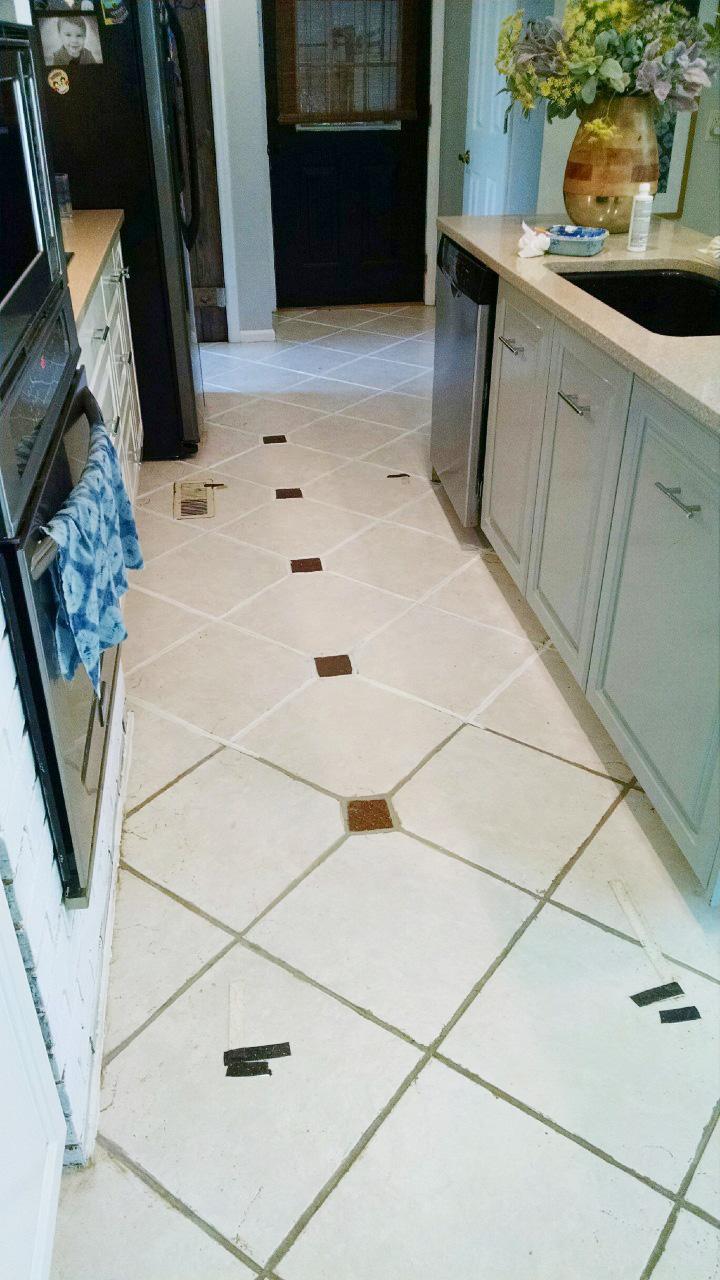 the easiest way to clean filthy neglected tile flooring rh designingvibes com Tile Flooring Kitchen Floor Ceramic Tile Kitchen Floors
