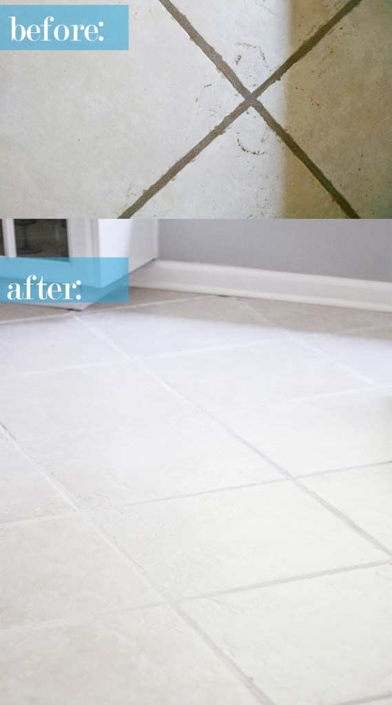 the easiest way to clean neglected ceramic tile floor