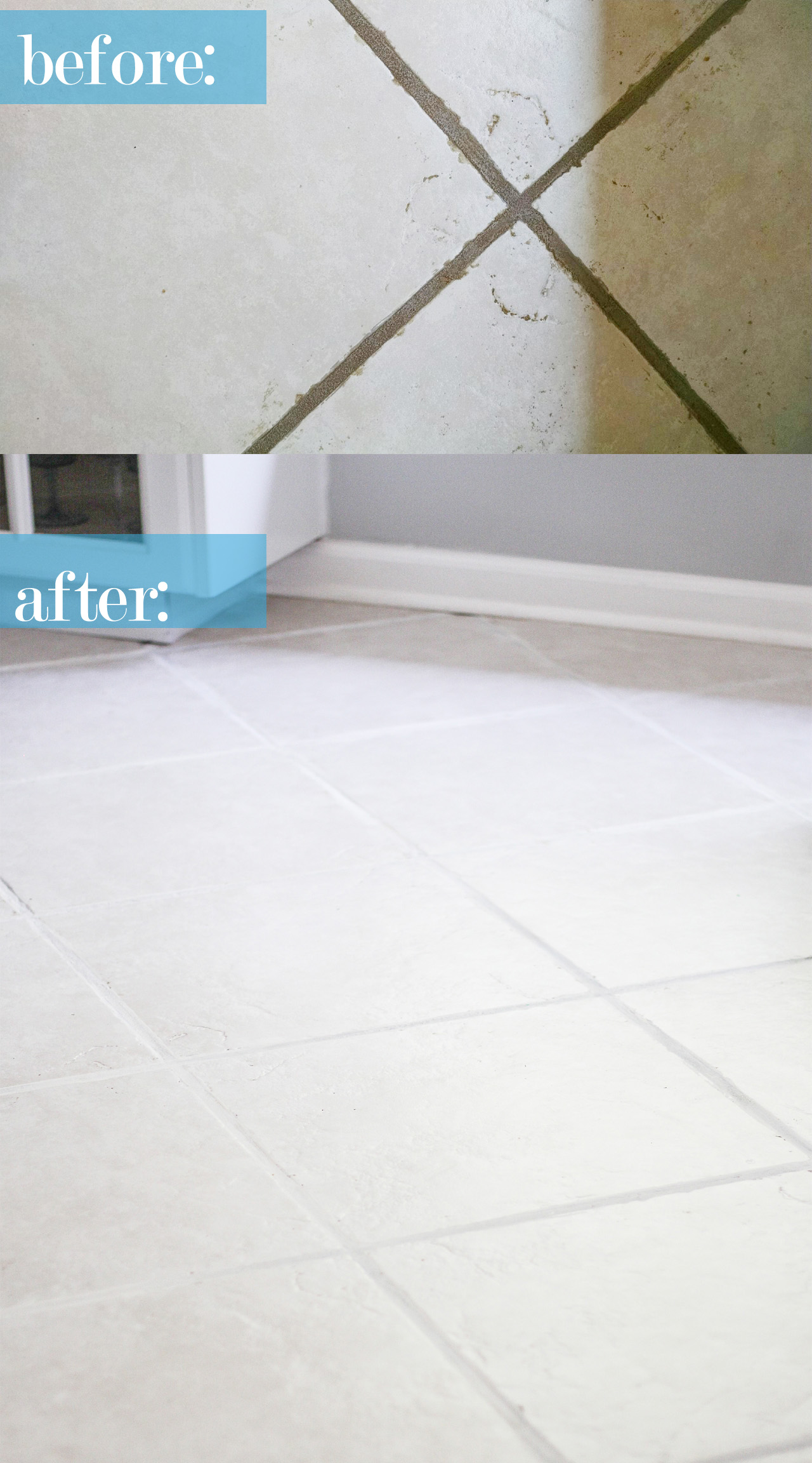 The easiest way to clean filthy neglected tile flooring the easiest way to clean neglected ceramic tile floor dailygadgetfo Choice Image