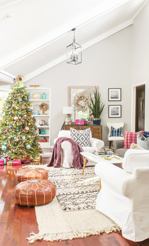 boho modern christmas decor ideas