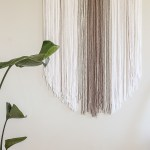 Diy Yarn Wall Hanging Oversized Boho Tapestry Tutorial