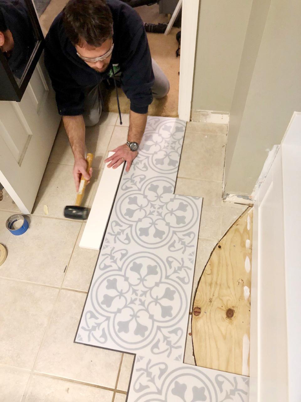 lvt flooring over existing tile the