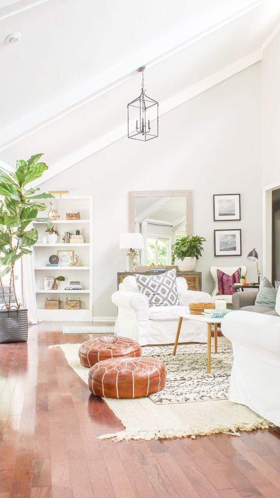 modern boho farmhouse living room decor