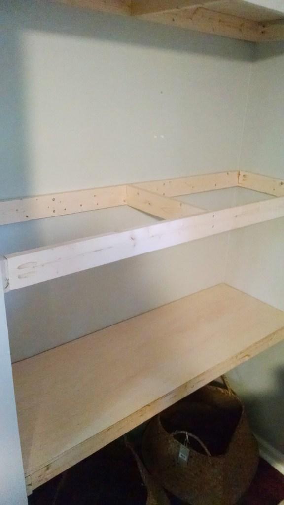 DIY Natural Wood Alcove Shelving - Easy Floating Shelves