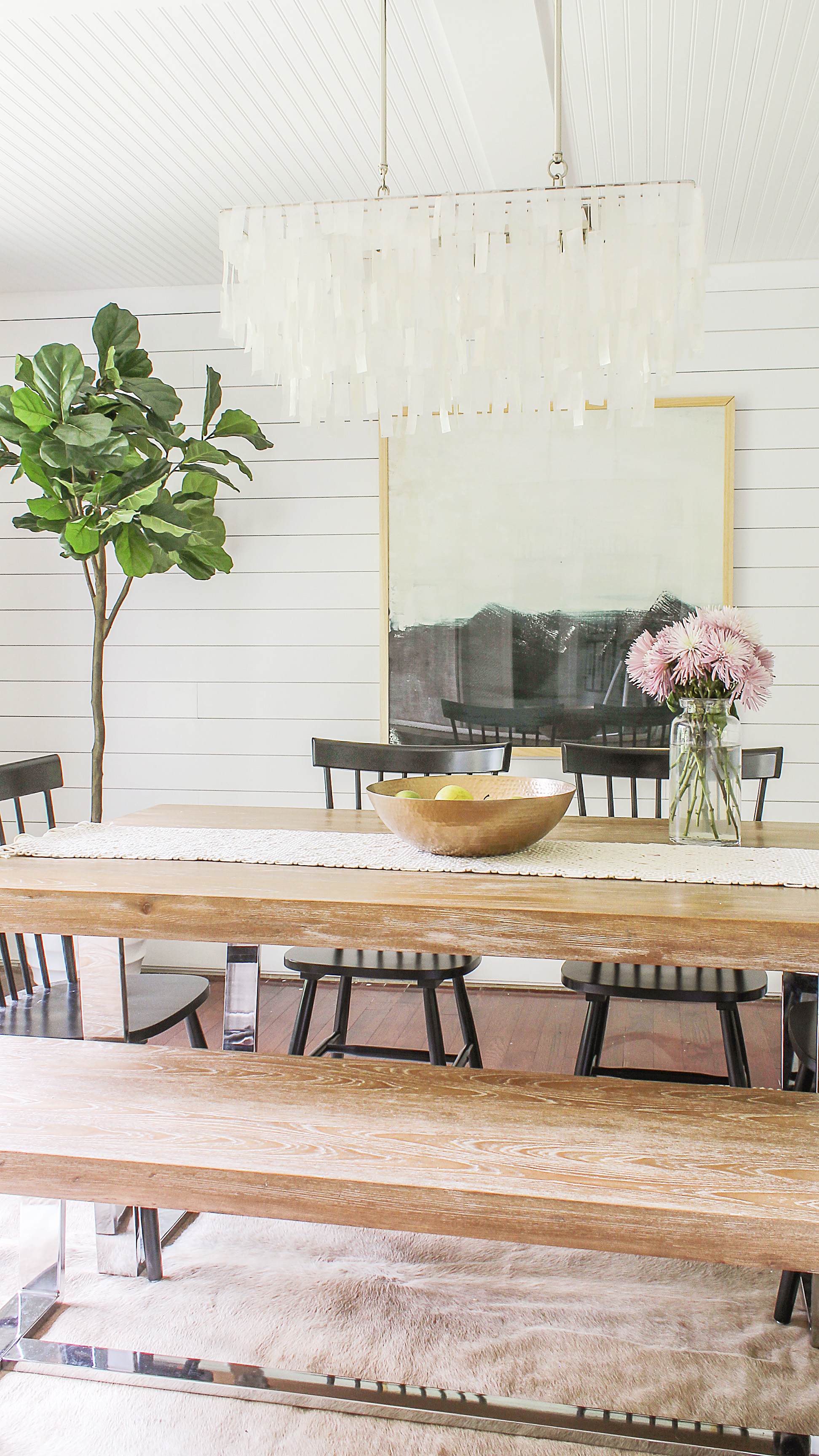 One Of The Best White Paint Colors For Modern Farmhouse Dining Rooms Is  Chantilly Lace By