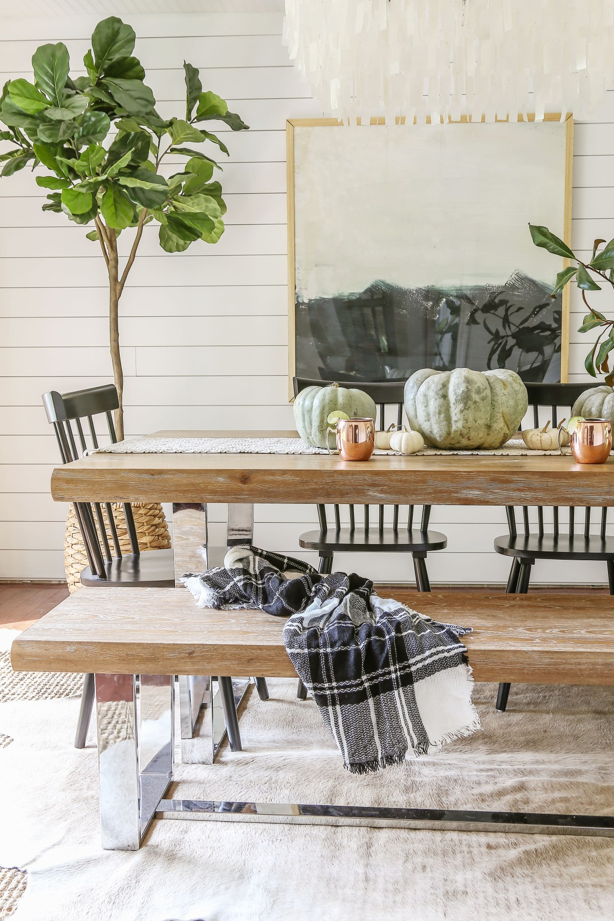 Affordable Modern Farmhouse Fall Decorating - Designing Vibes Fall Tour