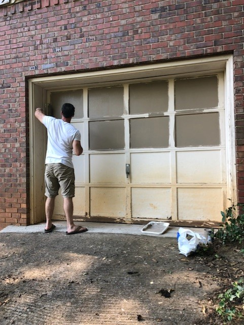 How To Paint Over A Chipped Garage Door Diy Wood Garage Door