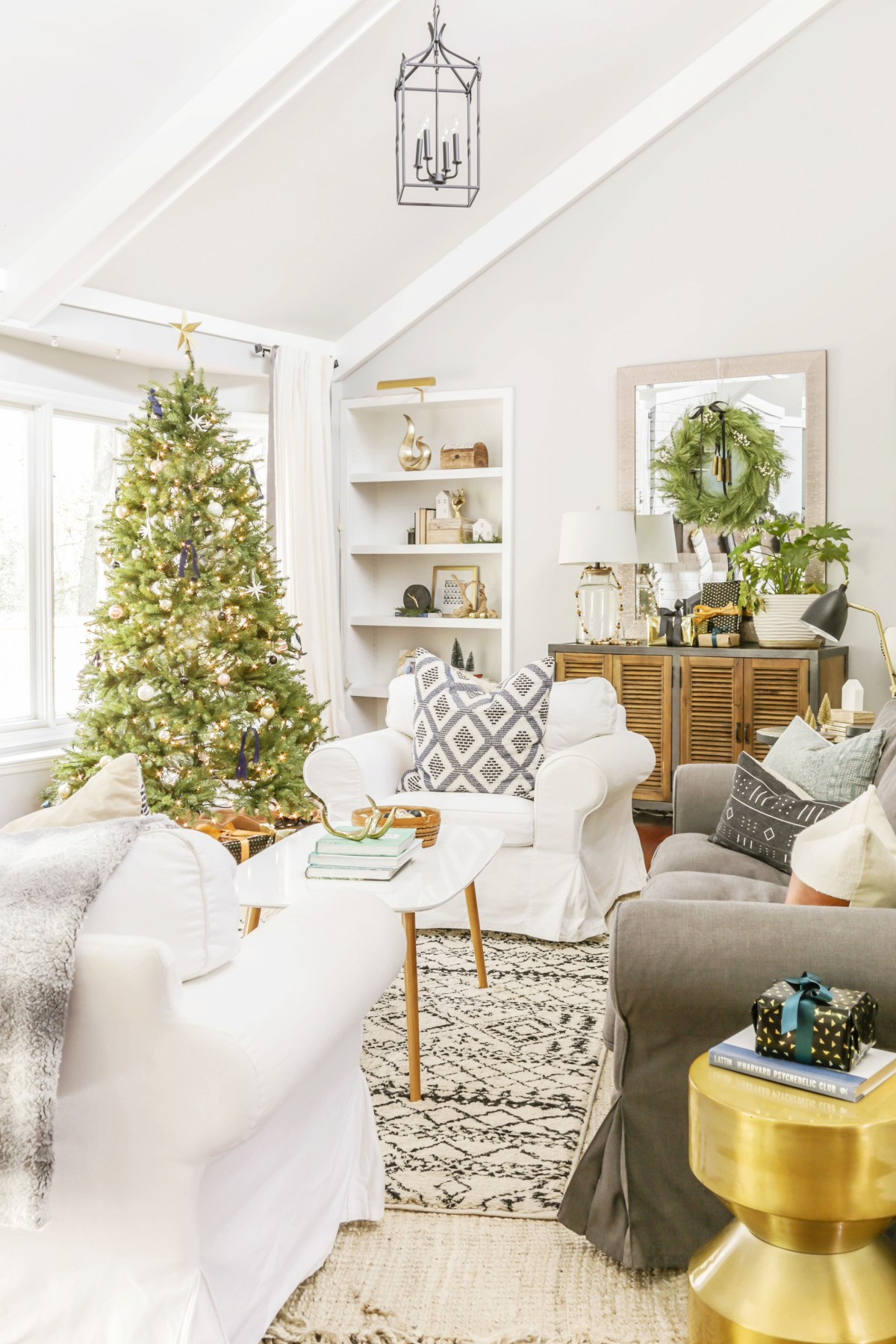 Neutral Modern Christmas Home Tour: Part One -Scandi Meets